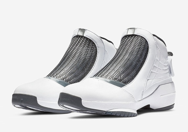 Athletic 2019 Jumpman 19 XIX Flint White Grey men Basketball Shoes jump fly high quality 19s Michael Sneakers