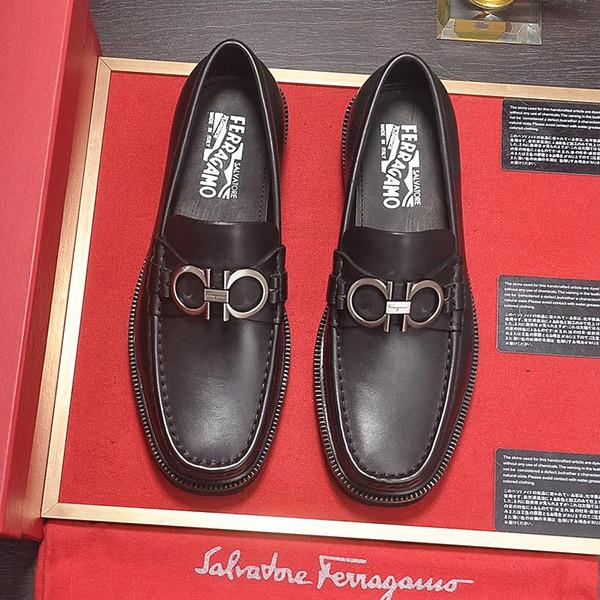 2019new marca de gama alta para hombre zapatos de vestir de cuero real zapatos de boda zapatos para hombre cómodos, mens casual prom mayor diseño final con origi qa