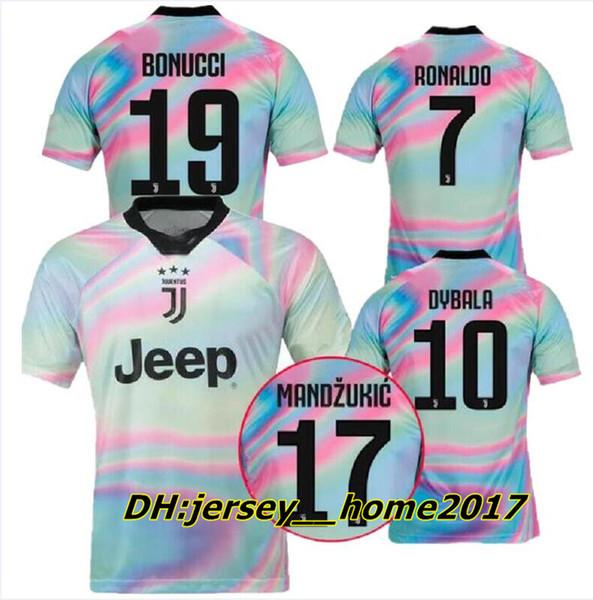 Yeni 2019 Juventus Sınırlı Sayıda futbol Forması beyaz JUVE EA Spor Formalar RONALDO DYBALA Juventus özel sürüm futbol Gömlek S-3XL