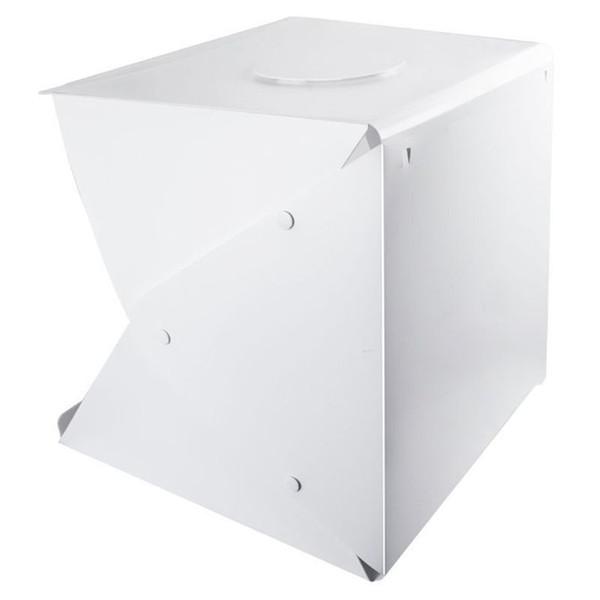 Mobile Fotostudio Schießen Zelt, 16 Zoll kleine faltbare LED Light Box Softbox Kit mit 4 Farben Kulisse für Fotografie,