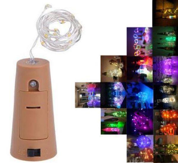 Wine Bottle Cork Copper Lights Color Changing LED Mood Party Wedding Decor CI