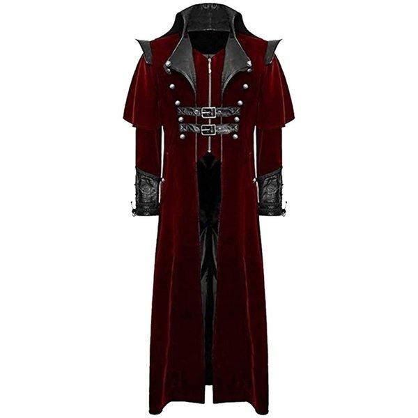 Steampunk vintage cappotti lunghi da uomo in stile reale costume cosplay vampiro 2019 nuovo design uomo retro cappotto gotico tailcoat