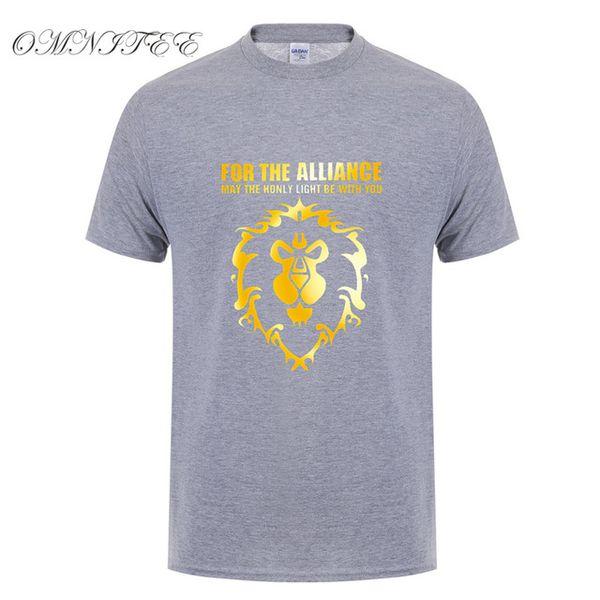 mens designer clothes brand polo New Summer Cool Game WOW T Shirt Men's DOTA T Shirt Fashion For The Alliance Men T-shirt