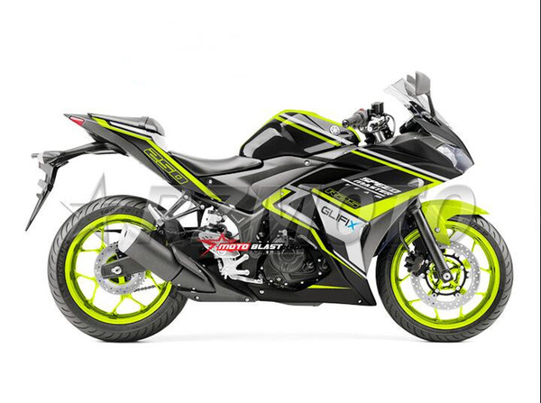 4Gifts New Injection ABS Mold Motorcycle plastic Fairing Kit For YAMAHA R3 R25 2015 2016 15 16 Fairings Bodywork set green black nice