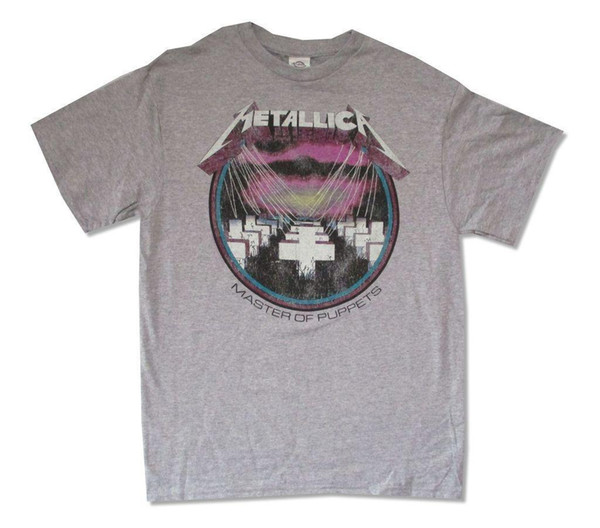 Master Of Puppets Distressed Heather Grey T Shirt New Official 100% Cotton Geek Family Top Tee Summer Short Sleeves Fashiont