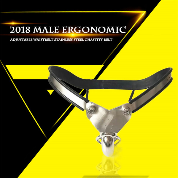Male Model-T Super Ergonomic Adjustable Curve Waist Stainless Steel Chastity Belt Ventilate Scrotum Groove Cock Penis Cage Bdsm Sex Toy