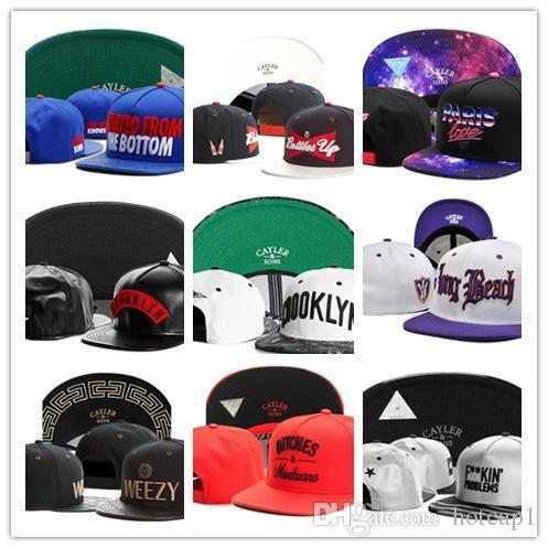 Toptan Yeni Varış Moda Cayler Sons düz kapaklar şapkalar Snapbacks şapkalar caps Karışık Sipariş birçok renkler