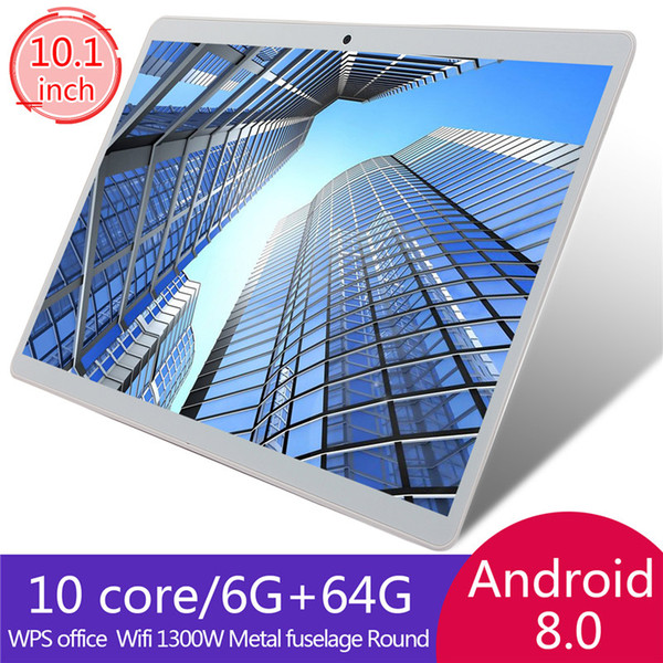 tablet 10 Inch IPS Screen Tablet 6+64GB Fits for Android 8.0 PT 3G WiFi Call Bluetooth GPS Phone Tablet