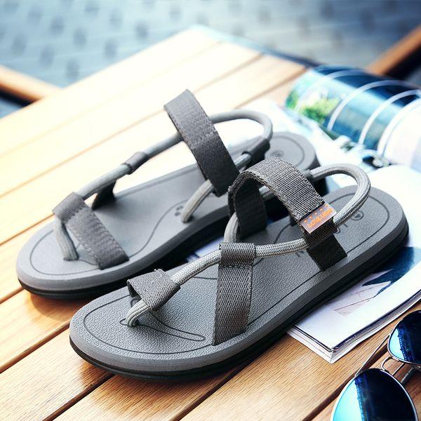 Men Sandals Beach Shoes Flip Flops Dual-purpose Sandals Male Slip On Flats Slippers Roma Leisure Breathable Slip On Men Shoes