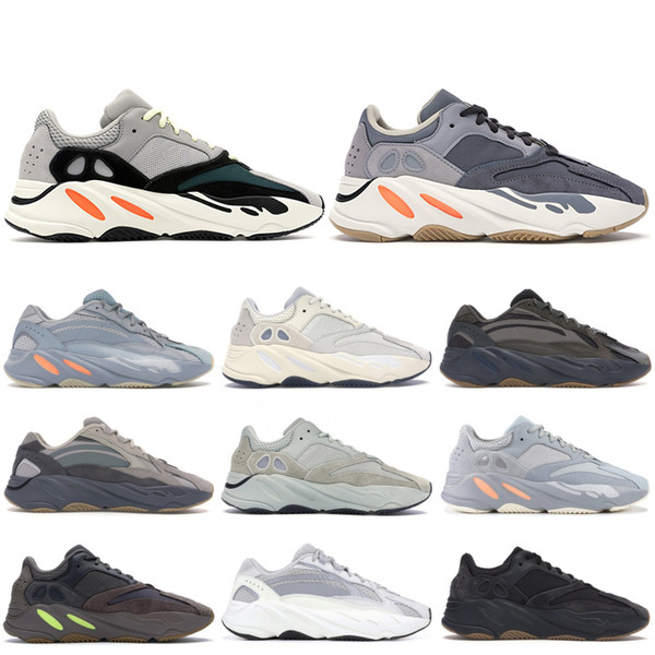 top popular 700 Stock X Mens Women Sneakers Reflective Magnet Inertia V2 Hospital Blue Wave Runner Black Static Deaigner Shoes Tephra Analog Trainers 2019