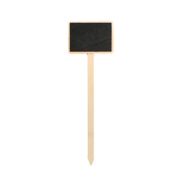 top popular Classic Mini Retro Wooden Blackboard Price Tag Message Board Wordpad Chalkboard Garden Flower Wood Card Plug-in Sign Plaques 2021