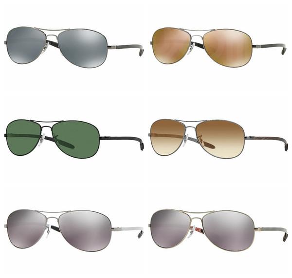 2018 Excellent Quality 8301 Ray Aviator Sunglasses Bans Frame Glass Lenses Brand Designer Sunglasses for Man Women