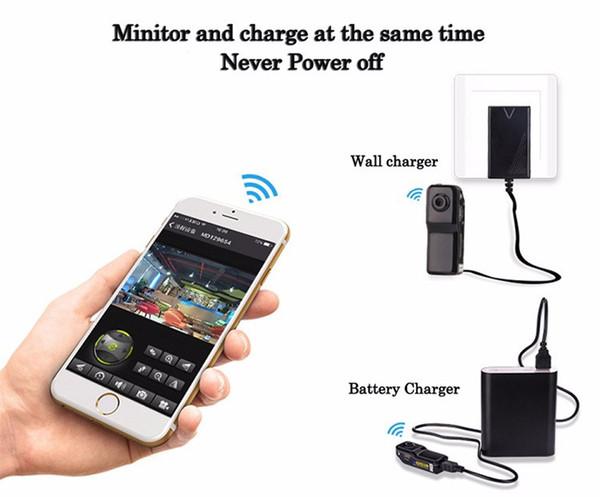 2019 Mini MD81S Telecamera videocamera Wifi IP P2P Telecamera DV wireless DV Registrazione segreta CCTV Android iOS Più piccola videocamera WiFi Video Espia Nanny