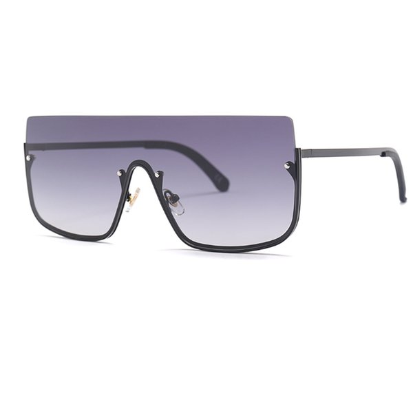 Brand Fashion Women New Oversized Sunglasses Men 2019 Square Half Frame Sunglasses Women Eyewear Trend UV400