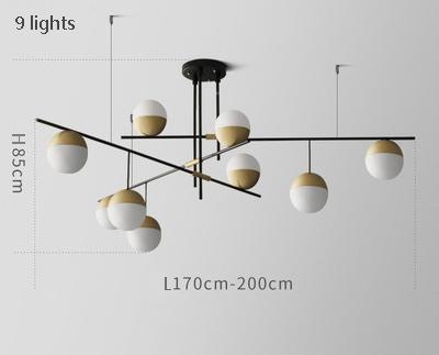 9 lights