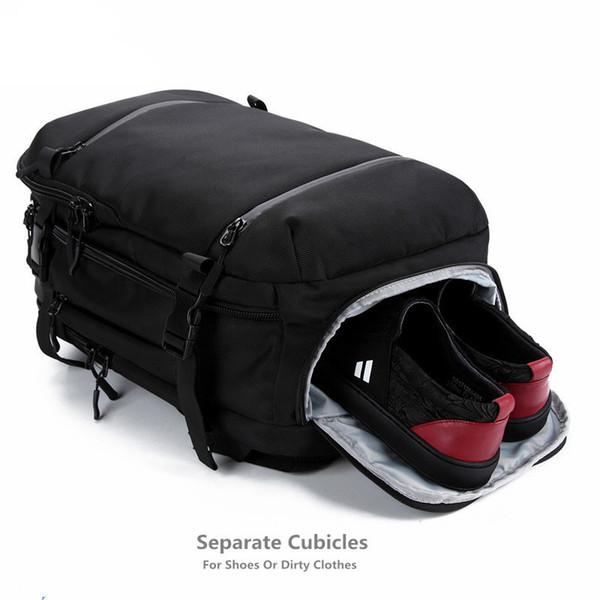 Ozuko Backpack For Men Laptop Women Backpack 17.3 Inch School Bag Large Capacity Luggage Bags Casual Backpack Travel Pack Urban Y19061204