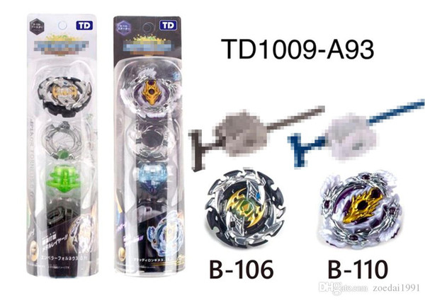 Nuovo Burst Toys Arena Beyblade B106 B110 Fusion in metallo con launcher God Spinning Top 4D Beyblades fighting gyro Toy