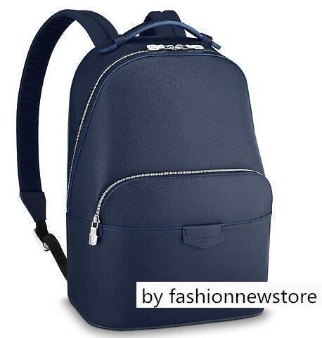 M30149 ANTON BACKPACK MEN BLUE BACKPACKS FASHION SHOWS OXIDIZED LEATHER BUSINESS BAGS HANDBAGS TOTES MESSENGER BAGS