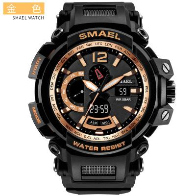 Couple Popular Men's Waterproof and Shock-proof Electronic Watch (Buy 10 and send one glasses)