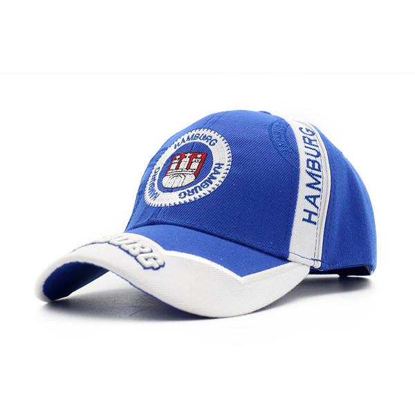 Nuova moda cappello da donna cappello da tennis tappo lingua anatra, berretto da baseball blu ricamato versione coreana di tonalità femminile nel 2019