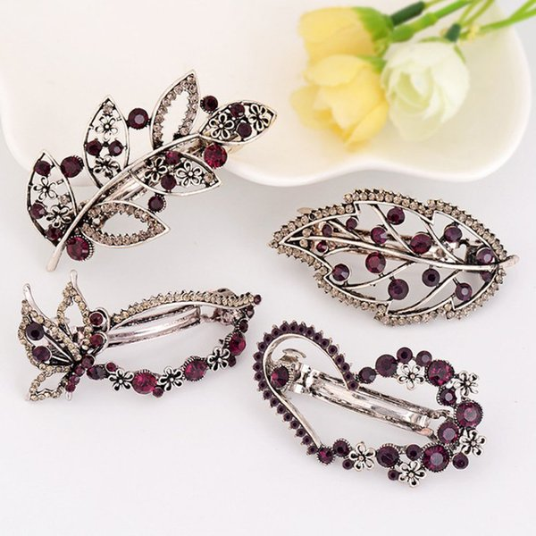 pparel Accessories Headwear 16 Styles Vintage Women's Crystal Rhinestone Hair Clip Crown Butterfly Leaves Hairpin Tiara Women Girls Beaut...