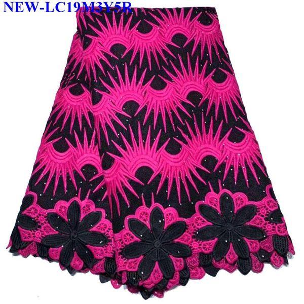Африканский кружевной ткани вышитые Африки гипюр шнур кружевной ткани Нигерии стразы гипюр шнур кружевной ткани для платья BSX02
