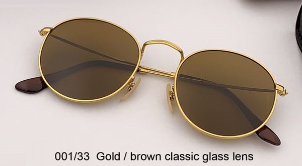 001/33 gold/brown classic glass lens
