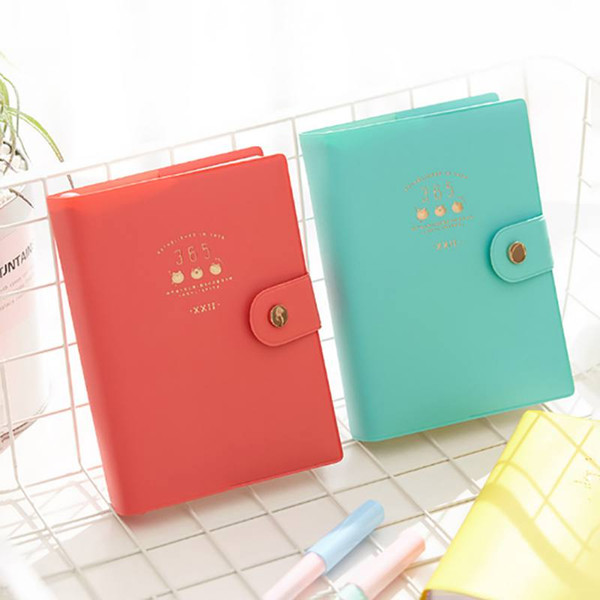 Color Page Boxed Thick Notebook Notepad Schedule Book Creative Hand Book Beautiful Illustration Inside Page