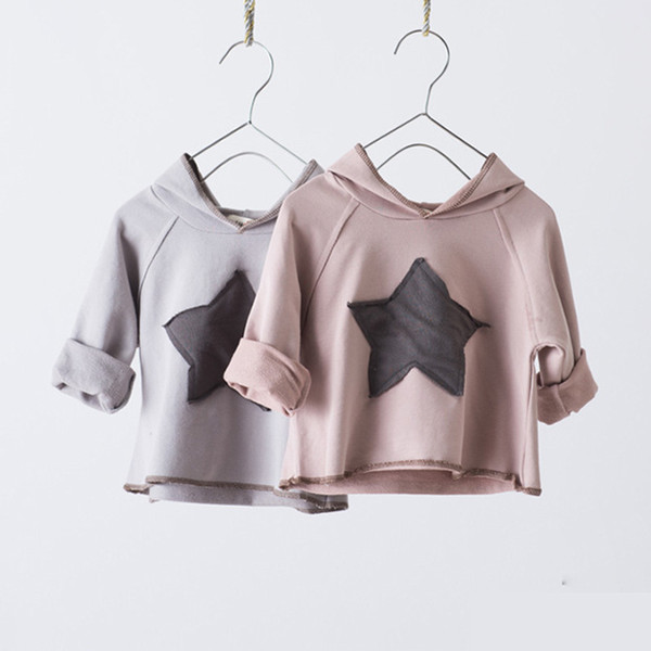 2019 Autumn Children Long Sleeved T-shirt Baby Girls Boys Hoodie T Shirt Cotton Kids Tops Casual Hooded Tees Rt173 Y190518