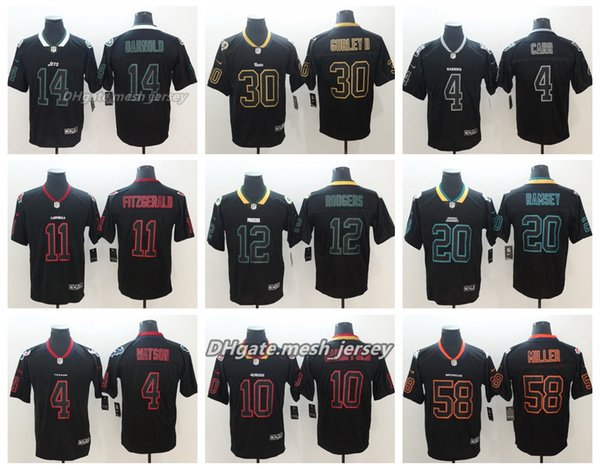 544aa045808 Black Shadow New York Jets Jersey Los Angeles Rams Denver Broncos Cardinals  Patriots Panthers Oakland Raiders