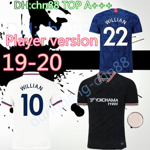 Versione giocatore HAZARD JORGINHO PULISIC maglia da calcio 2019 2020 HIGUAIN GIROUD KANTE Camiseta de football kit maglia 19 20 maillot camisetas