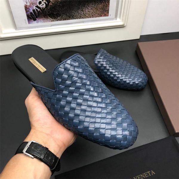 Glissière en caoutchouc de designer sandales de brocart floral hommes pantoufles