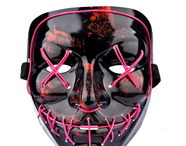 Mask led party face masquerade latex of Halloween party fancy dress costume cartoon horror design buy
