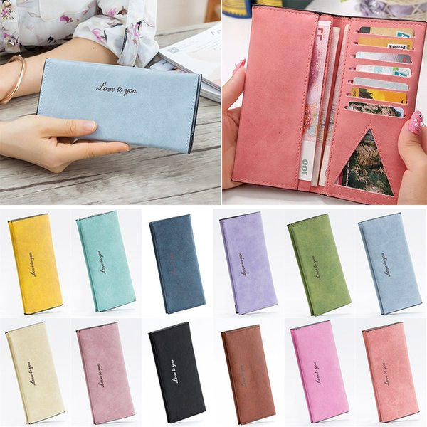 2019 2019 Women Fashion Purse Big Capacity Long Wallets Pu Leather Clutch Bags Cards Holder Wallet Popular Fab Women Bag