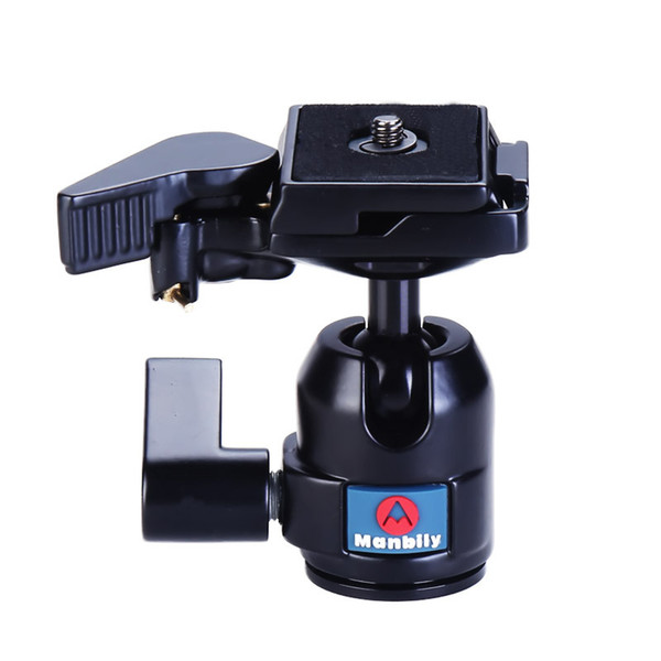 Manbily M10 Professional Tripod Heads Universal Ball Head w Manfrotto 200PL-14 Fast Mounting Plate for Camera Canon Nikon DSLR