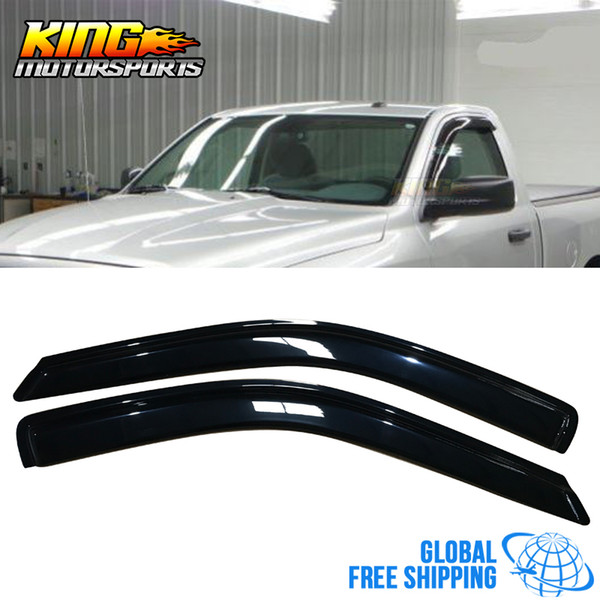 Fits 08-16 Dodge Challenger Acrylic Window Visors 2Pc Set
