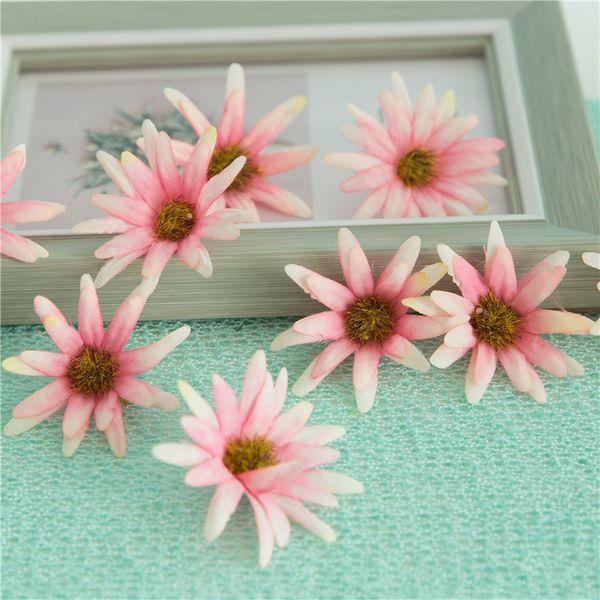 2019 5cm Artificial Simulation Silk Chrysanthemum Daisy Flower Head Diy Wedding Decoration Corsage Wrist Flower Garland Hair Accessories From