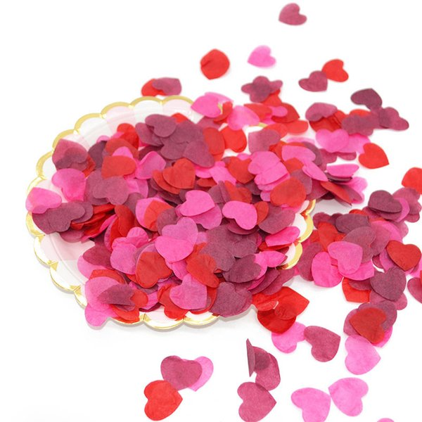 onfetti for wedding 1000pcs 2.5cm Romantic Love Mixed Paper Heart Confetti For Wedding Birthday Table Decoration Party Supplies Confettis...
