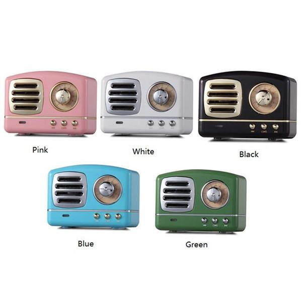 New Style Classical Vintage Wireless Bluetooth Speaker Innovative Radio Retro Portable Mini Speaker Stereo Deep Bass Subwoofer