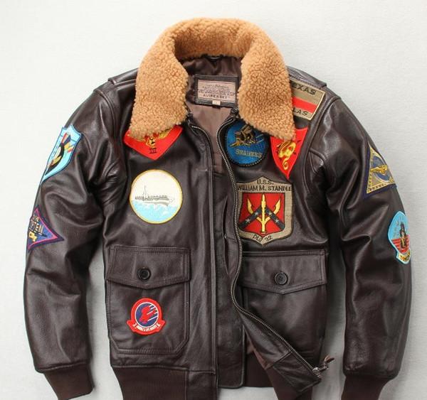 Vestes en peau de mouton Vol Hommes Homme d'hiver galvanisées Designer Manteaux Veste