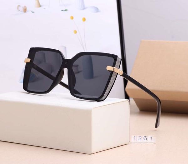 D lettere di marca delle donne del progettista occhiali da sole di estate adumbral donne degli occhiali di protezione UV400 1261 5 colori di alta qualità con la scatola