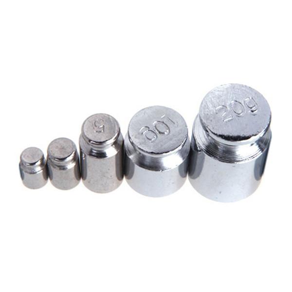 Peso Peso 1g 2g 5g 10g 20g Cromatura Calibratura Grammo Grammatura Peso Set Per Bilancia Digitale Bilanciamento Bianco Silvery