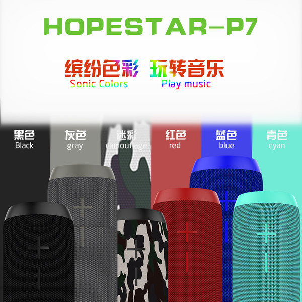 HOPESTAR P7 Bluetooth Speaker Wireless WaterProof IPX6 Column Box Bass Mini Subwoofer Portable With TF Card USB FM Mic speaker Charge Mobile
