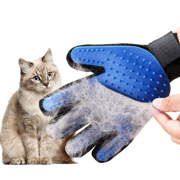 Dropship 1Pcs Silikon Hund Katze Pet Bürste Glove Deshedding Gentle Efficient Pet Grooming Glove Bad Reinigungsbedarf Kämme