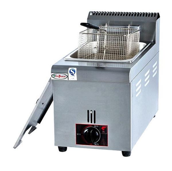 GF71 contador comercial de aço inoxidável elétrica de grande capacidade de frango máquina de fritadeira a gás glp com cesta