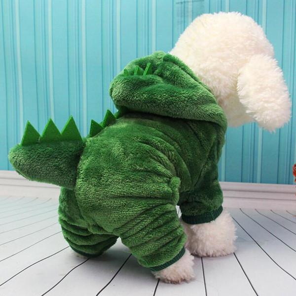 Kış Pet Köpek Kedi Kostümleri Dinozor Tavşan Cosplay Giyim İçin Yavru Kediler Cadılar Bayramı Kıyafet Mercan kadife Coat Giyim Toptan