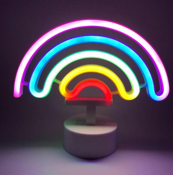 Moon Neon Light Neons Holiday Usb Decoration 2019 Lamp Charging 35RALScj4q