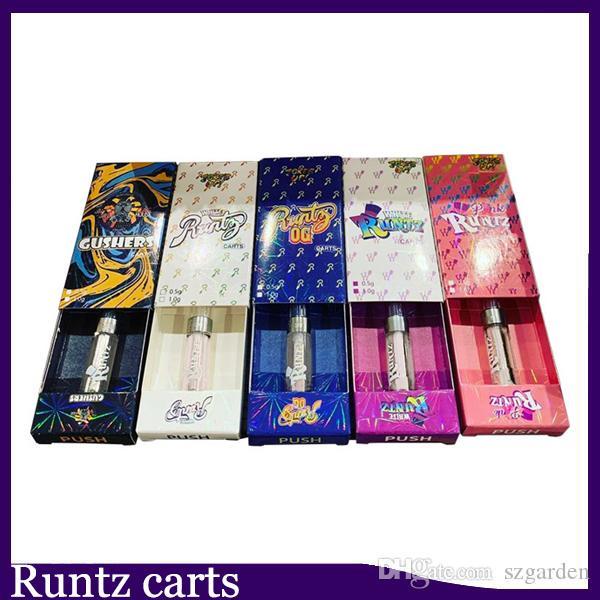 Neue Runtz Vape Cartridges Carts Verpackung e Zigarette leeren Stift 0,8 ml 1,0 ml Ölpatrone Vaporizer 510 Zerstäuber