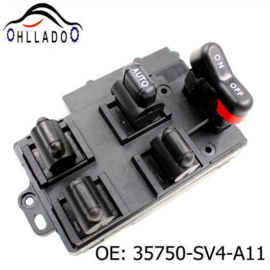 best selling HLLADO Left Hand Driver Side 35750-SV4-A11 Master Power Window Switch 35750SV4A11 for 1990-1997 Accord Power Window Switch High Quality