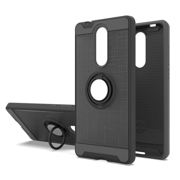 Coolpad Legacy Case 360 Degree Rotating Ring & Bracket Dual Layer Shock Bumper Cover for LG Stylo 5 Hot Sale